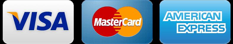Aceptamos Visa, MasterCard y AMEX